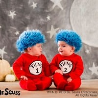 Baby Dr. Seuss's™ Thing 1 and Thing 2 Baby Costume | Pottery Barn Kids