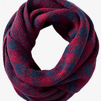 WINDOWPANE PLAID INFINITY SCARF from EXPRESS