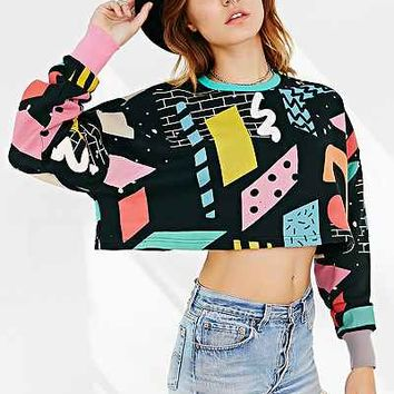 Lazy Oaf Blocks Printed Sweater - Urban Outfitters