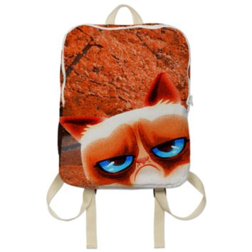 Angry Autumn Cat Backpack created by ErikaKaisersot | Print All Over Me
