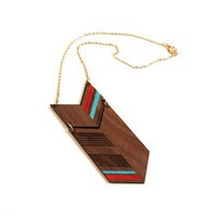 COLO Laser cut walnut necklace color by MijuAndYou on Etsy