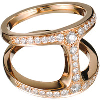 Diamond & Gold Dame Phantom Ring