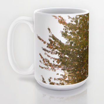 Apple Tree Mug, Leaf Mug, Fall Mug, Nature Mug, Large Tea Mug, Large Coffee Mug, Art Mug, Unique Mug, Photo Mug, Green Mug, Ceramic Mug