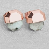 & Other Stories | Stone Stud Earrings | Green Light
