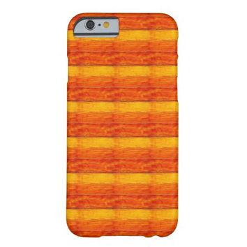 Yellow Orange Wood Texture Pattern Barely There iPhone 6 Case