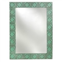 Antique Tin Art Deco Mirror (491563309), Antique Wall Mirrors & Repurposed Wood Mirrors   bambeco