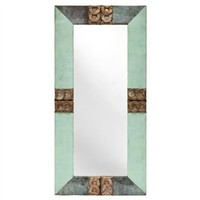 Decorative Oblong Copper Decorative Mirror (491563747), Antique Wall Mirrors & Repurposed Wood Mirrors   bambeco