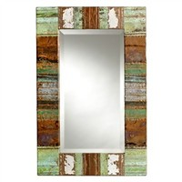 Vintage Patchwork Copper Mirror (491563311), Antique Wall Mirrors & Repurposed Wood Mirrors   bambeco