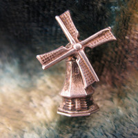 Charm - Sterling Silver - 3D Charms - Moving Windmill - Environment Friendly - Alternative Energy - Movable Parts - Mechanical