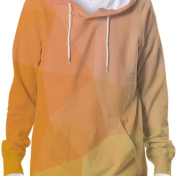Beautiful Yellow Orange Geometry Hoodie Abstract Geometric Design created by all-over-print-t-shirts | Print All Over Me