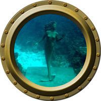 The Little Mermaid Porthole Vinyl Wall Decal by WilsonGraphics