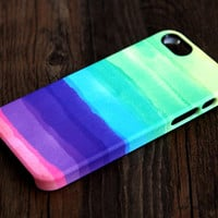Pastel Abstract Watercolor iPhone 6 Plus/6/5S/5C/5/4S/4 3D Wrap Case - iPhone