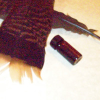Handmade Walnut Ink and Cruelty Free Handcut Quill Dip Pen