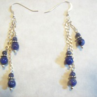 Dangle Earrings Sterling Silver Denim Lazuli Magic Jewelry