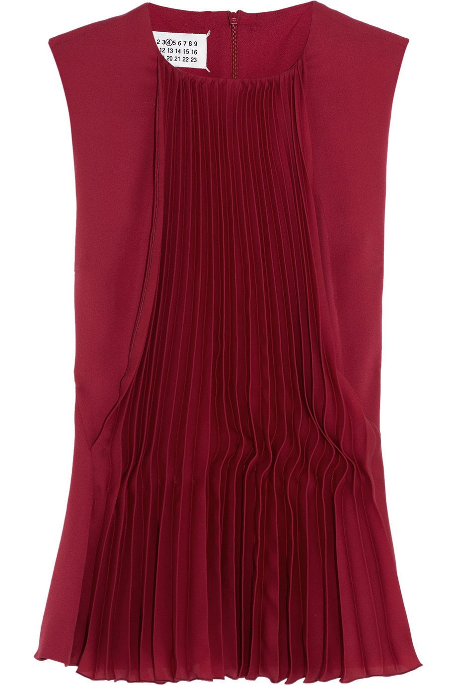Maison Martin Margiela | Pleated crepe and silk top | NET-A-PORTER.COM