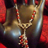 Carnelian Silver Neclace Sterling Silver and Carnelian Magic Jewelry