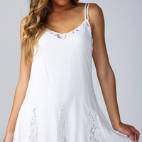 Seduction Swing Dress in White - Popcherry