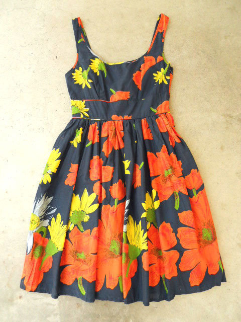 Summer Poppy Dress in Navy [2673] - $42.30 : Vintage Inspired Clothing &amp; Affordable Summer Dresses, deloom | Modern. Vintage. Crafted.