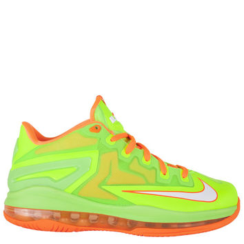 Nike Kids Lebron XI Low Grade School - KSA Cartoon Electric Green White Total Orange