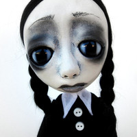 Loopy Gothic Art Doll Wednesday Addams Family Custom RESERVED