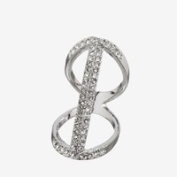 FLOATING PAVE BAR RING