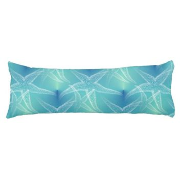 Starfish Blue Aqua Beach Body Pillow