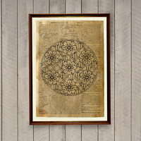 Geometric decor Sacred geometry print Mandala poster