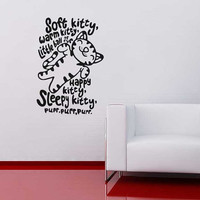 Soft kitty big bang theory wall sticker decal interior design home improvement
