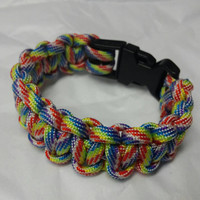 Autism Awareness jewelry handmade paracord bracelet made with cobra knot. free shipping by Geneva's Sky