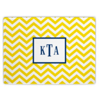 Monogrammed Chevron Printed Cutting Board