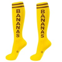 Bananas Unisex Athletic Socks