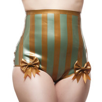 Striped High-Waisted Carnival Knickers with Bows