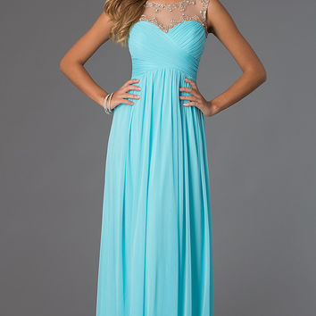 Sleeveless Ruched Prom Dress
