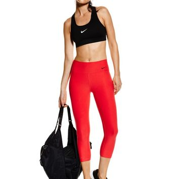 Nike Legend 2.0 Poly Capri Training Tights - Action Red