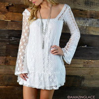 Laced With Style White Lace Dress