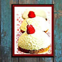 French Coconut Snowball Pastry Digital Art