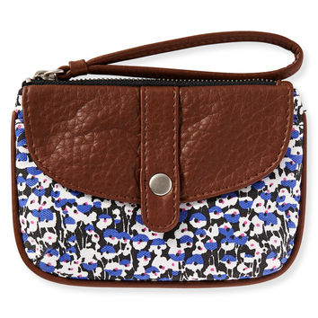 Aeropostale Mini Blooms Wristlet - Black, One