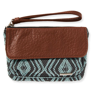 Diamond Woven Wristlet - Playful Aqua