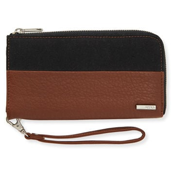 Aeropostale Colorblock Wallet - Medium Brown, One