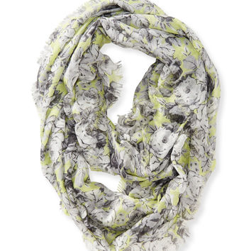 Aeropostale Rose Infinity Scarf - Lucid Lime, One