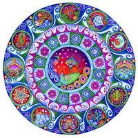 Pisces art astrology mandala print by Lindy Longhurst