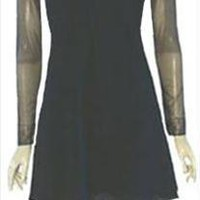 Laundry by Shelli Segal Cocktail Mini Dress Sheer Black Net
