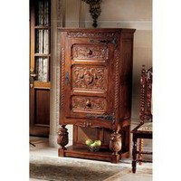 Coat of Arms Gothic Revival Armoire - AF4546 - Design Toscano