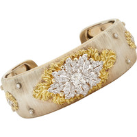 Diamond, Gold & White Gold Floral Cuff
