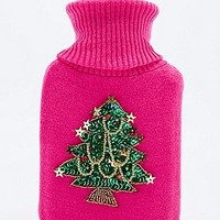 Christmas Tree Hot Water Bottle in Pink - Urban Outfitters