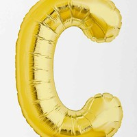 Gold Letter C Party Balloon - Urban Outfitters