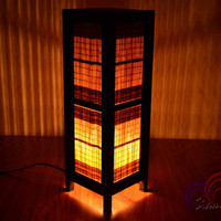 Thai Vintage lamps Bamboo Blind Wooden Lantern House Lighting and Holiday Decoration
