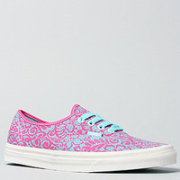 The Authentic Sneaker in Magenta Lace