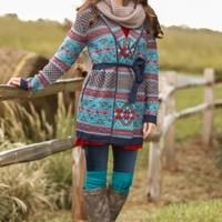 Escape To The Rockies Cardigan-Teal