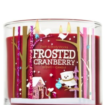 3-Wick Candle Frosted Cranberry